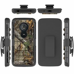 Heavy Duty Belt Clip Australia - For Motorola Moto G6 Play   G6Play Hybrid Heavy Duty 3 in 1 Military Camo Hard Shockproof Case For G6Play Belt Clip Stand Cover
