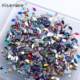 $enCountryForm.capitalKeyWord NZ - 3x6m 500Pcs high quality new fashion 3D AB color crystal horse eye shape acrylic gem glitter rhinestone DIY nail decoration