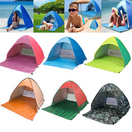automatic pop up tents NZ - INFANT 50+ UV UPF Pop Up Beach Tent Beach Shade Sun Shelter Strip Outdoor Automatic Open Tents