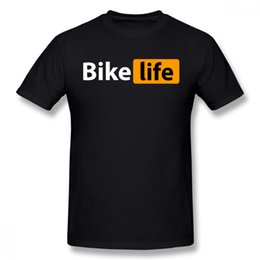 bicycle sales NZ - For Men Bike Life T Shirt Bicycle T Shirt Hot Sale T-shirt Round Neck T Shirt Plus Size Nice Short - Sleeved Top Design