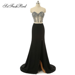 Chinese  Fashion Elegant Sweetheart With Beading Crop Top Mermaid Party Formal Evening Dresses for Women Two Pieces Prom Dress manufacturers