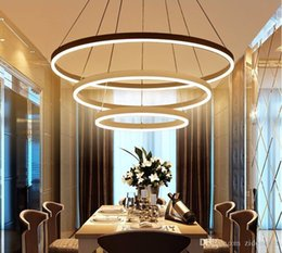 Discount touch designer - Circel Rings modern led pendant lights acrylic chandeliers lighting designer pendant lamps living room dining lighting f