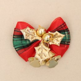 Fashion Jewelry Multicolor New Crystal Double Bells Fashion Christmas Bows Sleigh Bells Brooches Christmas Gifts Christmas Brooches For Women Refreshment