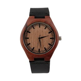 $enCountryForm.capitalKeyWord UK - GENBOLI Red Quartz Wooden Watch Elegant Style Vintage Wood Dial Watches Men Women Outdoor Couple WISHWatch Relogio New