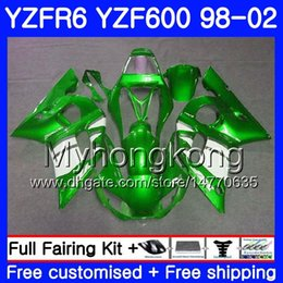 Yzf r6 fairing green online shopping - Body For YAMAHA YZF600 YZF R6 Green white factory HM YZF R6 YZF YZF R600 YZFR6 Fairings