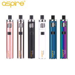 Discount rainbow metal vape - Authentic Aspire Pockex AIO Starter Kit compatiable with pockex 0.6 1.2 ohm Ecigarette 1500mAh pocket vape kit blue rain