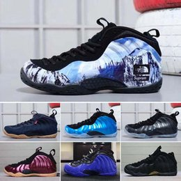 18441196f9e 2018 new mens Basketball Shoes Casual men Sports Sneakers Foam One Eggplant  Purple Foams Night Maroon Gum chaussures foamposites trainers