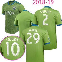 1354dc371 New Thai quality 2018 2019 Green Seattle Sounders FC Soccer Jerseys 18 19  MORRIS DEMPSEY TORRES Roldan Lodeiro KIT Football Jersey Shirts