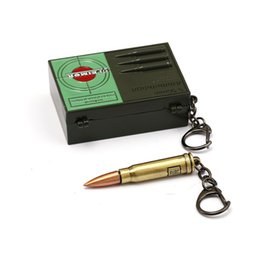 mans bullet chains 2019 - Game Pubg Triumph Crate Box Keychain PUBG With 300 Win Mognum Bullets Key Chain Ring Pendant llaveros Porte Clef For Men