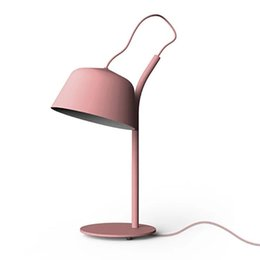 MiniMalist paintings online shopping - Nordic minimalist lighting macaron modern minimalist bedroom bedside lamp study creative personality learning eye table lampNordic creative