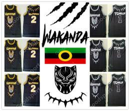Wholesale movies for sale – custom 2018 WAKANDA Tchalla Jersey Men Movie Black Panther Basketball Hillmoager Erik Killmonger Jerseys Sport Team Away hot sale SPORTY