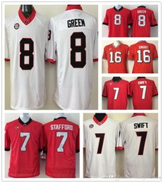 586337d9f 2018 NCAA Jersey 8 AJ Green 7 D Andre Swift 7 Matthew Stafford 16 Kirby  Smart Mens College Football shirt Stitched high quality