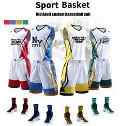 6b2d8d3a6c 2018 Cool Nuevos uniformes de baloncesto para niños personalizados hombres adultos  traje de pelota entrenamiento de baloncesto partidos de camisetas ...
