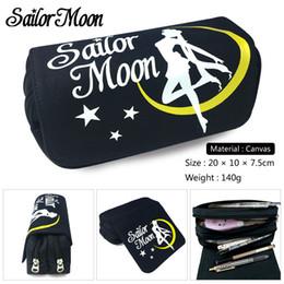 $enCountryForm.capitalKeyWord NZ - New Arrival Anime Cosmetic Cases Fashion Pencil Case Sailor Moon Cartoon Pen Bag Women Zipper Make Up Bag Handbags