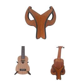 Mandolin instruMent online shopping - Rose wood Removable Instrument Stand Holder Supporter Lightweight Bracket for Ukulele Mandolin Violin Guitar Holder Stand