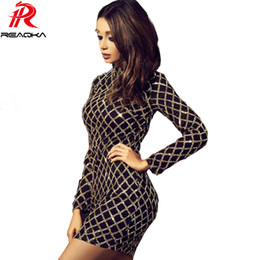 Autumn Winter Black Long Sleeve Sequins Dress 2018 Sexy Bodycon Sheath Gold  Pattern High Neck Party Dresses Nightclub Vestidos f42f34752577