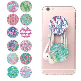 Wholesale Universal Grip Cell Phone Holder Lilly Inspired Pulitzer Expandable Grip Finger Stand Flexible For iPad iPhone X plus Samsung