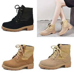 $enCountryForm.capitalKeyWord NZ - 2018 new arrival combat ankle boots for women safety work desert cowgirl booties high quality waterproof flock winter outdoor shoes