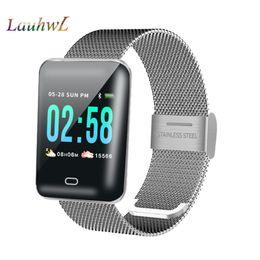 B8 Men smart watch Android smartwatch cardiofrequenzimetro multiplo modello sportivo fitness tracker da donna smart electronics per iOS in Offerta