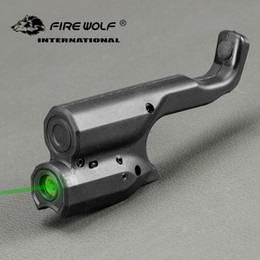 TacTical pisTol lighTs online shopping - FIRE WOLF Tactical Green Laser Sight Scope For Black Color Pistol Laser For Hunting Shooting