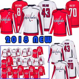 40cd79a1a11 Washington Capitals Jerseys 8 Alex Ovechkin 77 T.J. Oshie 19 Nicklas 70  Braden Holtby 43 Tom Hockey Jersey Top quality