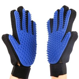 $enCountryForm.capitalKeyWord Canada - high quality 259 needle Pet Cleaning grooming Brush Glove Dog Comb Silicone Bath Mitt Pet Dog Massage Hair Removal Grooming pet Glove m028