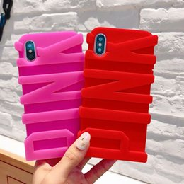 Wholesale 3D PINK Soft Silicone Case For Iphone X Iphone S SE S Rubber Luxury Fashion Cell Phone Cover Skin Hot Celular Coque Unique