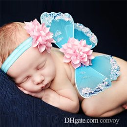 Angel Accessories online shopping - baby angel butterfly wings flower headband photo set Cosplay costume popular photography props baby angel wings Hair Accessories BAW07