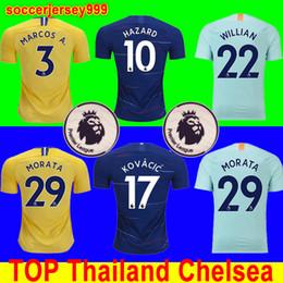 Camiseta de fútbol Chelsea soccer jersey football shirt de Tailandia  superior 2018 2019 PELIGRO JORGINHO KOVACIC GIROUD chandal de fútbol KANTE Camiseta  18 ... bcf53d3d1324f