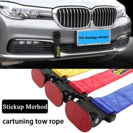 Discount car tuning stickers - RASTP-Universal  New Arrived Car Tuning Tow Rope Latest technology sticker style tow rope WUGEN Style Tow Strap Easy Ins