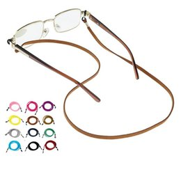 Wholesale Anti Slip Sunglasses Cotton Neck String Cord Retainer Strap Eyewear Lanyard Holder With Good Silicone Loop Colors Option
