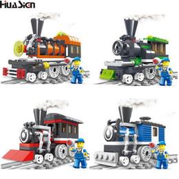 Rails Blocks NZ - brick toys Educational Assembled Train Track Model Building Blocks Kit DIY City Rail Bricks Toys for Children Christmas Gift