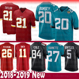 8f8d60508 Jacksonville 20 Jaguars Jalen Ramsey 27 Leonard Fournette Jersey 84 Cole  Bortles Washington 26 Peterson 11 Alex Smith 21 Kerrigan Redskins