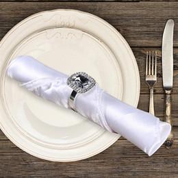Diamond Napkin Holders Australia - Banquet Dinner Napkin Holders Diamond Napkin Rings for Wedding Decoration Supplies Table Decoration Accessories