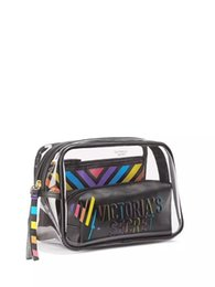 Cosmetic Bags Locks Australia - Pink wholesale pvc makeup storage bag zip lock travel pvc bag beauty pvc cosmetic bag with the best design