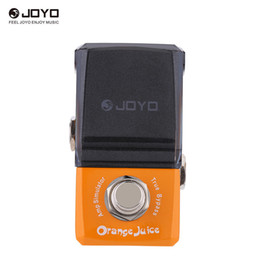 Effect Pedal Knobs Australia - JOYO JF-310 Orange Juice Amp Simulator Mini Electric Guitar Effect Pedal with Knob Guard True Bypass
