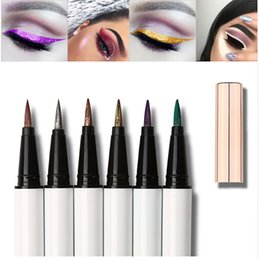 Discount shimmer glitter colorful eyes shadow - Make up Colorful Glitter Liquid Eyeliner Pencil Waterproof eye shadow pen for Eye Beauty Comestics Party Makeup maquiage