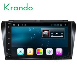 """Chinese  Krando Android 7.1 9"""" full touch (no dvd) car dvd radio gps navigation stereo for Mazda 3 2004-2008 multimedia system manufacturers"""