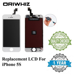 Perfect Lcd NZ - ORIWHIZ Quality for iPhone 5S LCD Touch Screen Digitizer Assembly Black and White Color Perfect Packing Mix Order Support