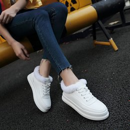 White Rabbit Hair Australia - Brand Designer White Leather Espadrilles Women Fur Flats Lace-up Oxford Creepers Rabbit Hair Shoes Woman Platform Shoes Loafers