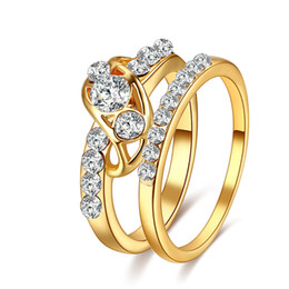 Discount gold animal rings for men - whole saleCACANA 2 Pcs Jewelry Ring for Men Women Wedding Accessories Couple Jewelry Accessories Lovers' Gift DROP