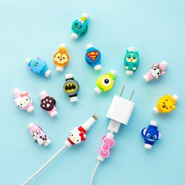 cable saver protector UK - Cartoon USB Charger Data Cable Cord Protector Charging line saver For Mobile phone USB cable protection cable winder 3000pcs lot