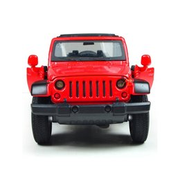 Model Music NZ - 1 Piece High Simulation 1:32 Pull Back Jeep Wrangler Rubicon Zinc Alloy Diecasts Model Toy Vehicles With LED Light and Music