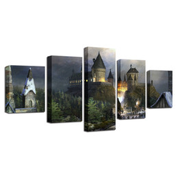 Chinese  Harry Potter Castillo Para,5 Pieces Home Decor HD Printed Modern Art Painting on Canvas (Unframed Framed) manufacturers