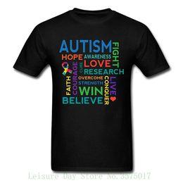2ff5d1f73 Autism T Shirt Australia - Autism Awareness Word Cloud Men's T-shirt Brand  Cotton Men
