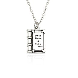 "$enCountryForm.capitalKeyWord NZ - Fashion 3D Mini Fairy Tales Book Charm Pendants Necklace Carved ""once upon A Time"" Magic Book Necklaces For Children Collier"