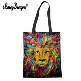 large canvas prints black white NZ - Tiger Lion Lady Women's Large Shopping Tote Bag Canvas Handbag Shoulder Bag for Teenager Girls Cute Dachshunds Print Beach