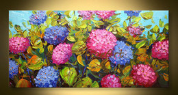 $enCountryForm.capitalKeyWord Australia - hand painted wall art modern oil painting knife canvas heavy texture hand-painted abstract flower painting unique gifts Kungfu Art