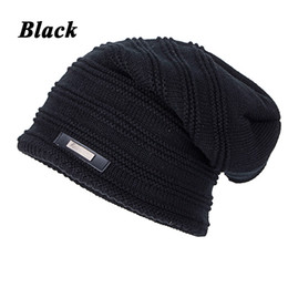 womens baggy beanie hats UK - Joymay 2018 Knit Winter Womens Men Mens Cashmere Hip-Hop Beanie Hat Baggy Unisex Cap Skull WM050