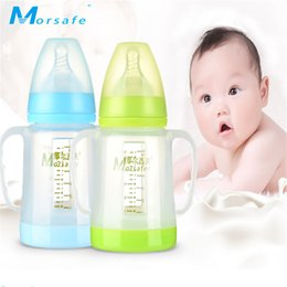 $enCountryForm.capitalKeyWord Canada - Baby Anti-flatulence Feeding Bottle Wide Mouth with Handle Nipple Adjust Water Cup Hand Holder Shatter Proof Milk Bottles